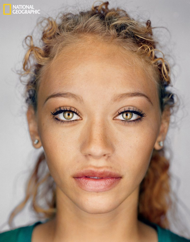 Image of a woman from a mixed race background implying that in the near future the average person will come from a melting pot of backgrounds.