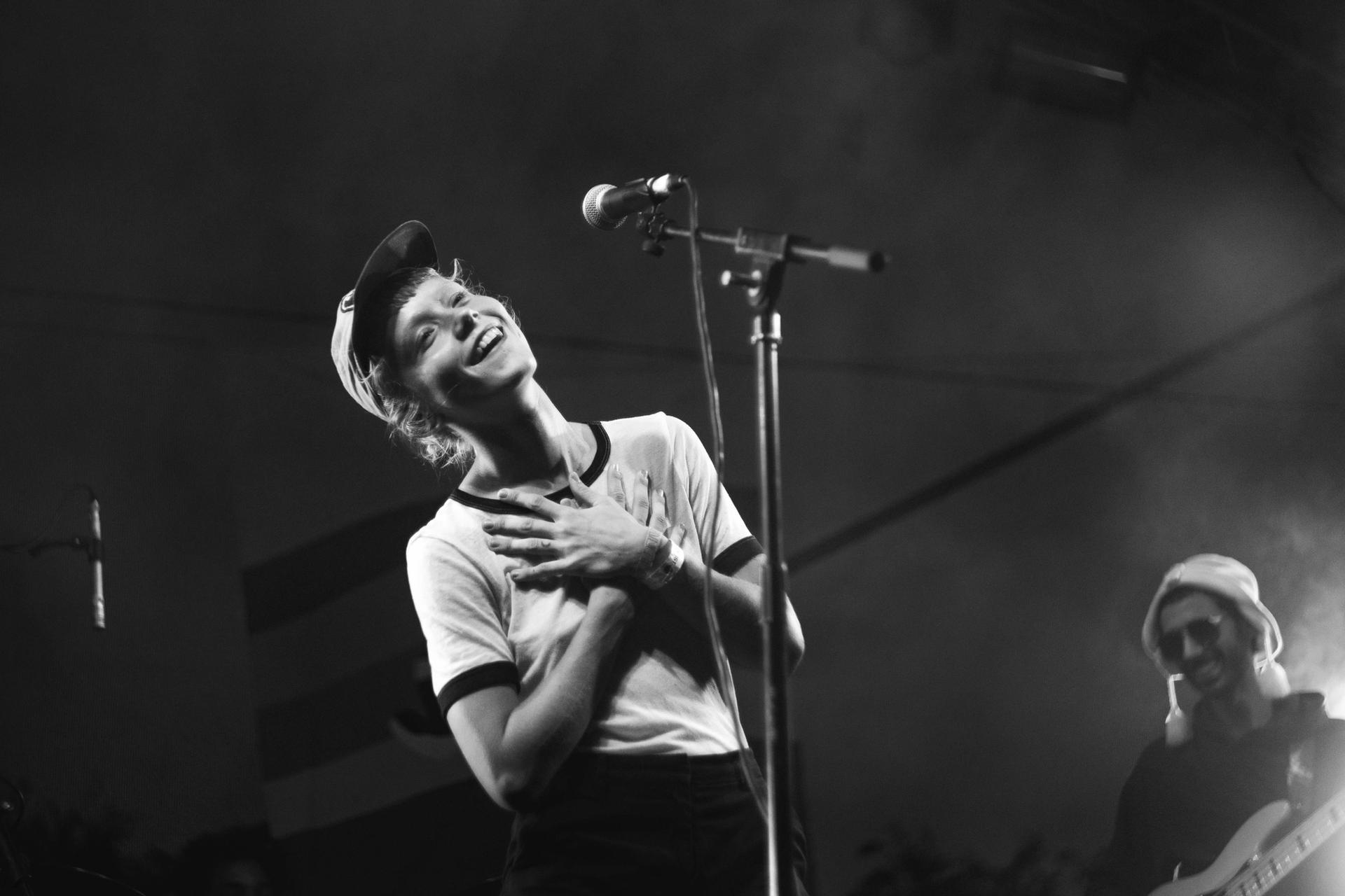 Alice Phoebe Lou performing on Brainchild main stage