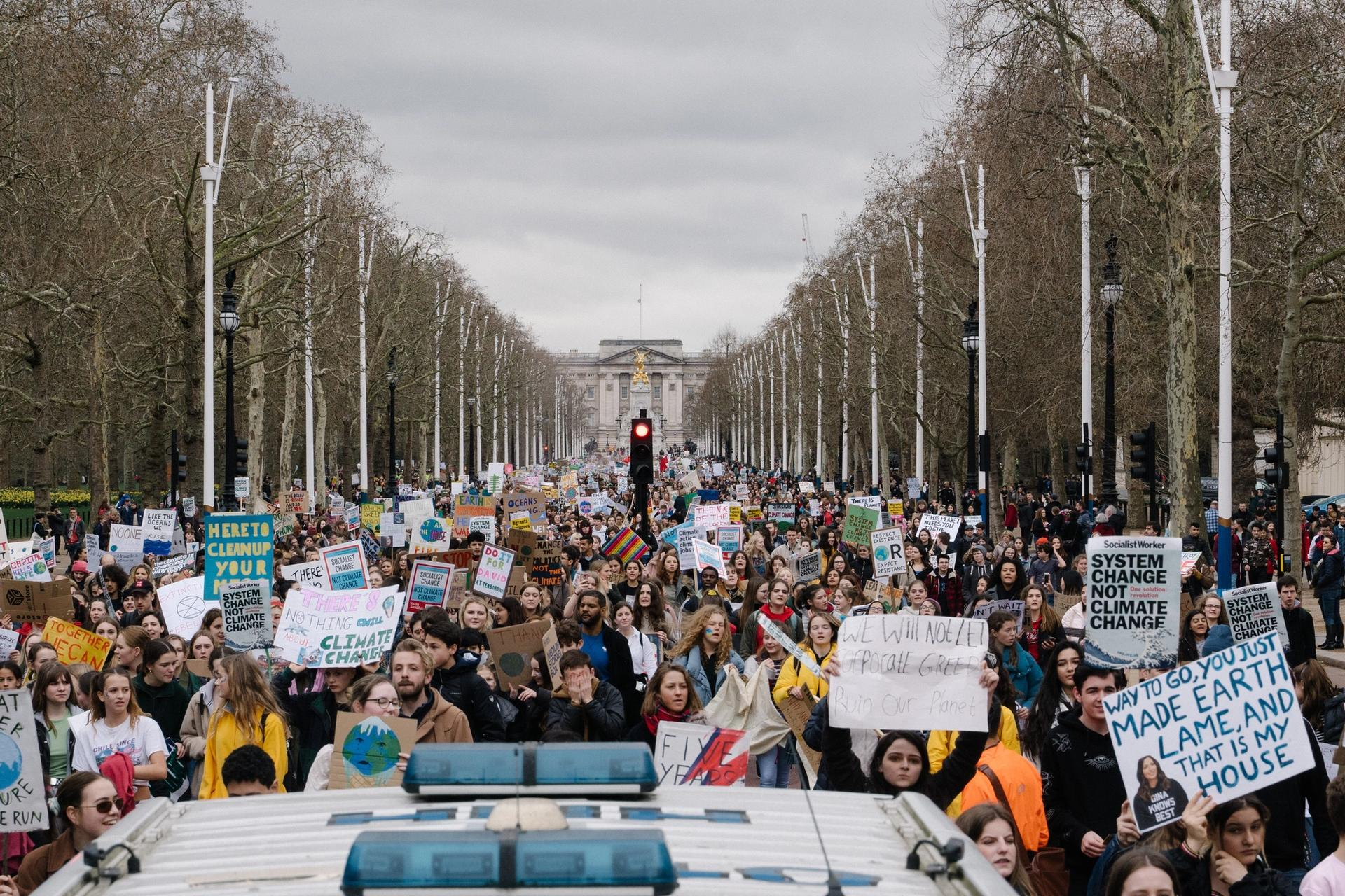 Student climate march London