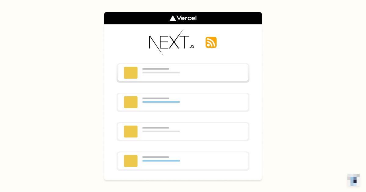 Next.js blog with RSS