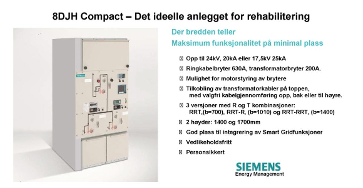 Annonsen viser bilde av anlegget 8JH Compact og en beskrivelse av det