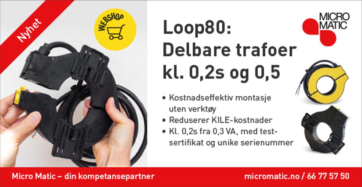 Annonsen viser bilde av strømtrafo