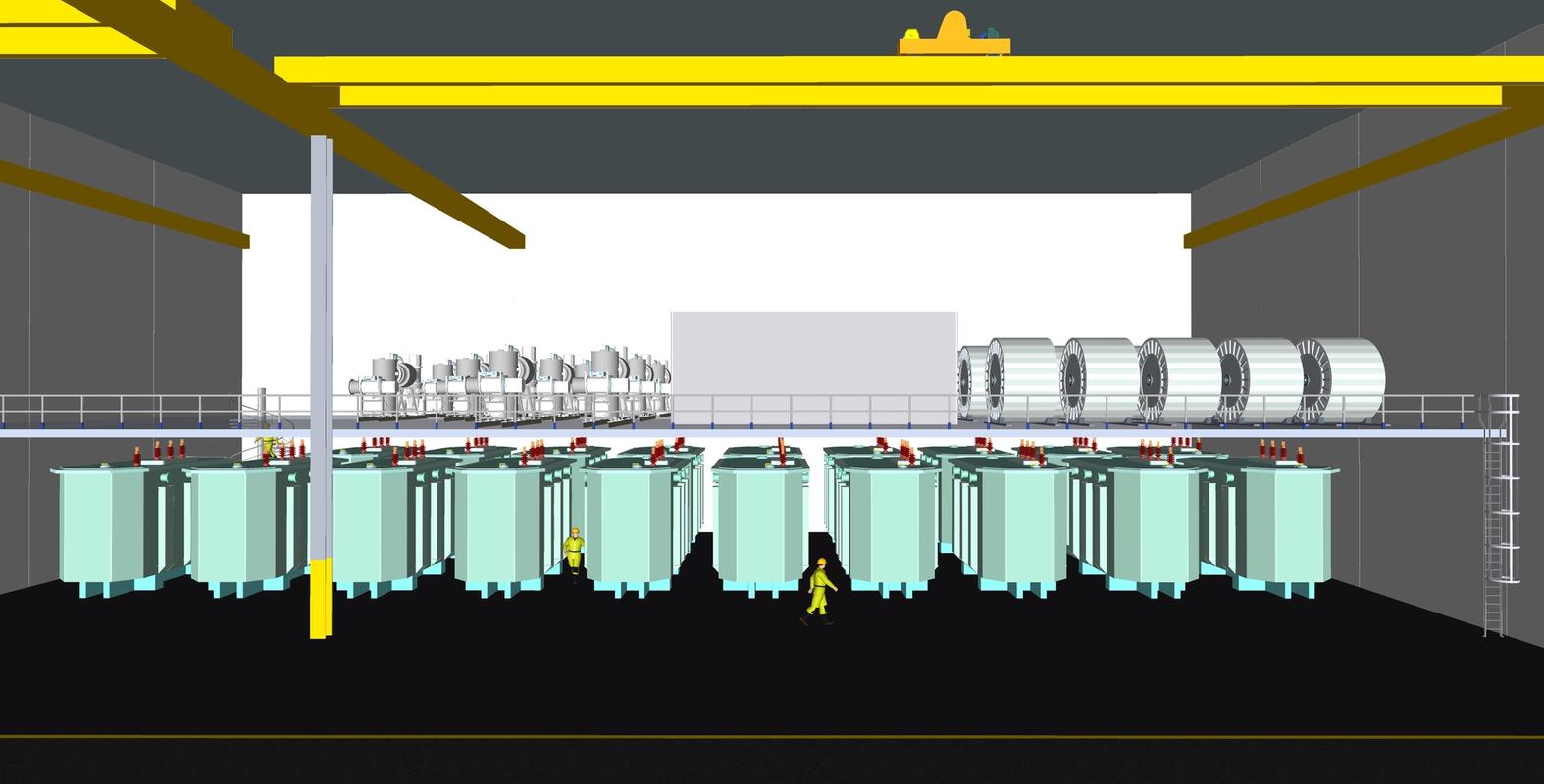 Bildet viser en illustrasjon over en fremstilling av et fremtidig lager