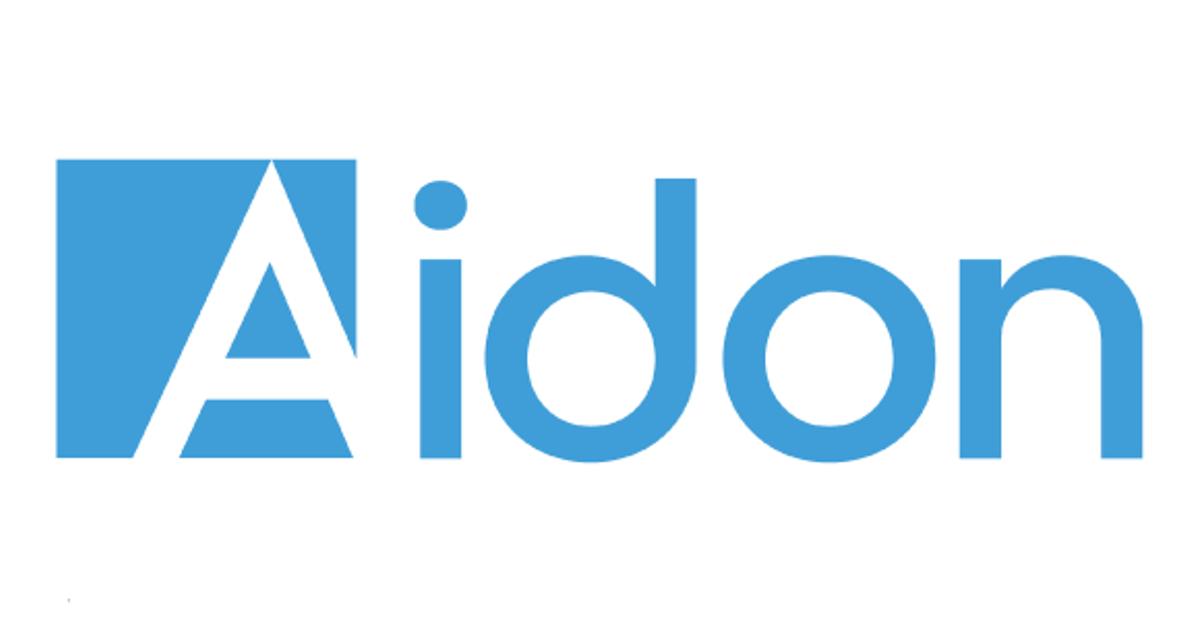 Annonsen viser logoen til Aidon