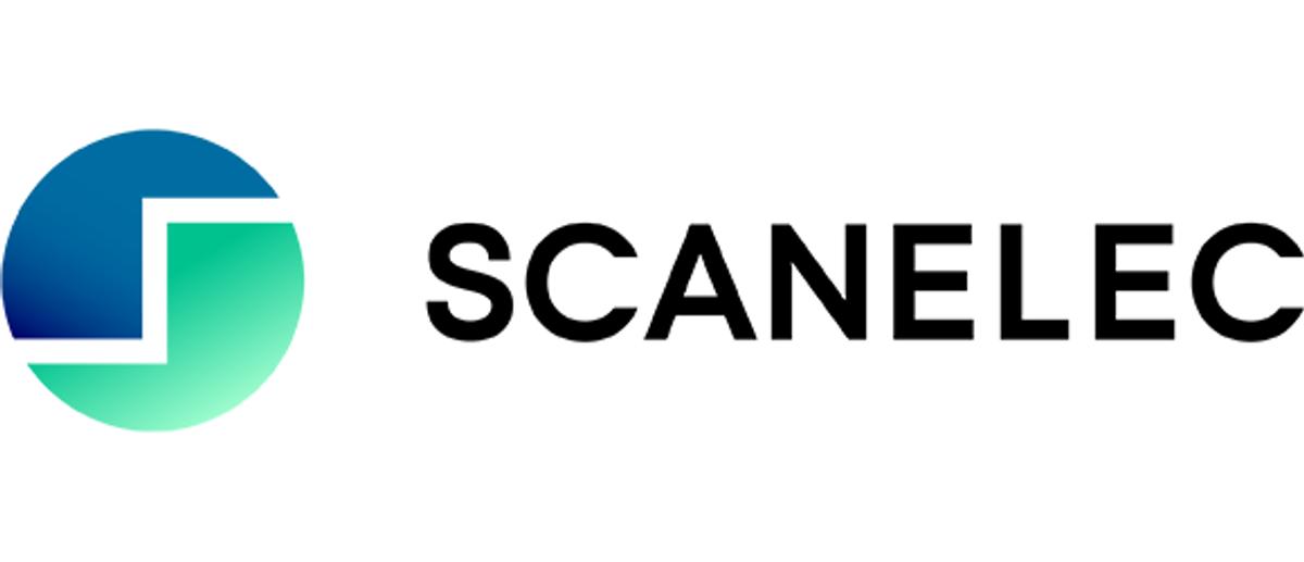 Annonsen viser logoen til Scanelec AS