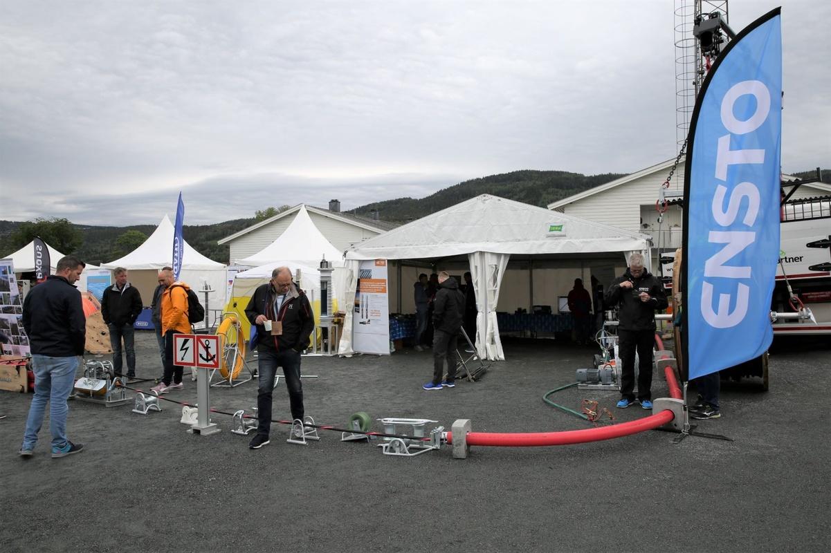 Bildet viser hvordan messestanden til vinneren av årets stand - Ensto NOR -  ser ut.