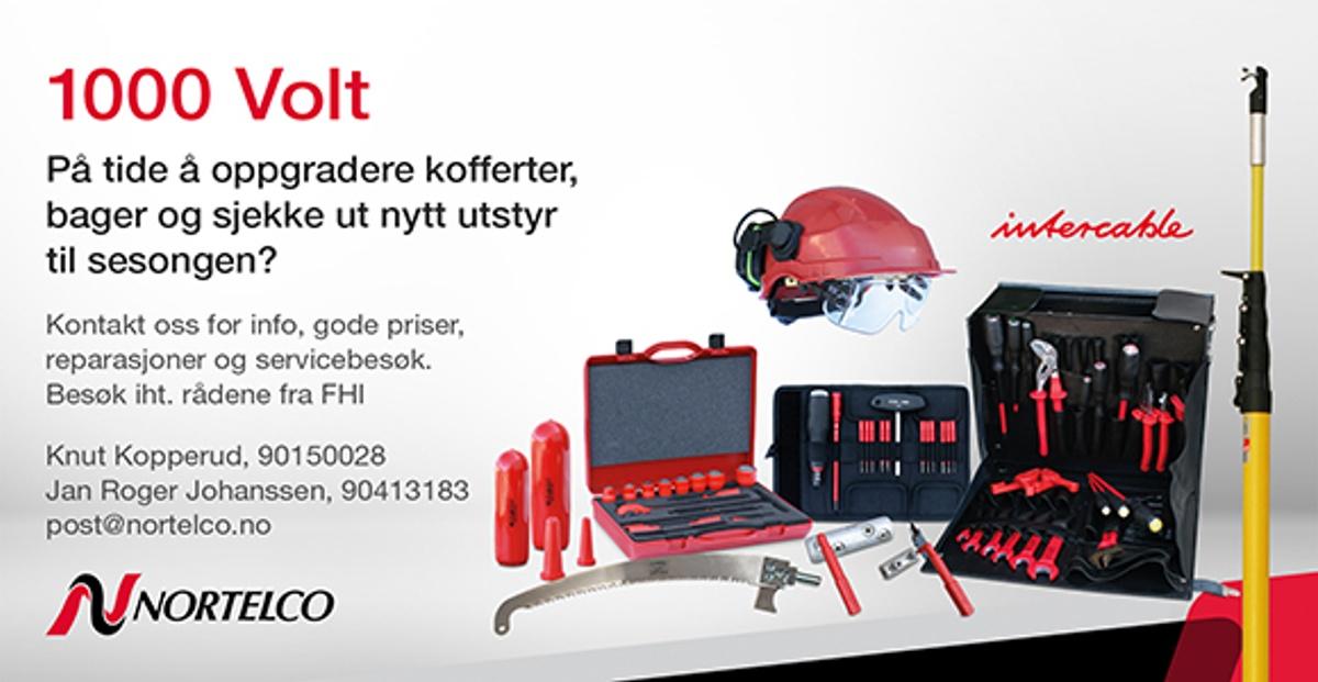Annonsen viser utstyr som man kan kjøpe hos Nortelco