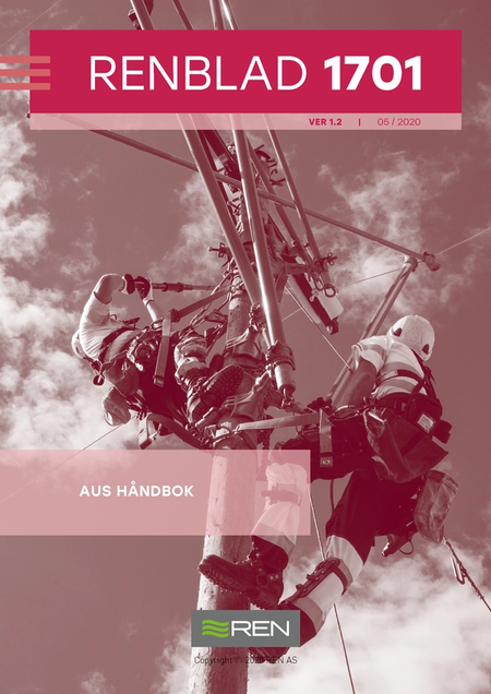 Bilde viser forsiden til RENblad 1701 - AUS håndbok