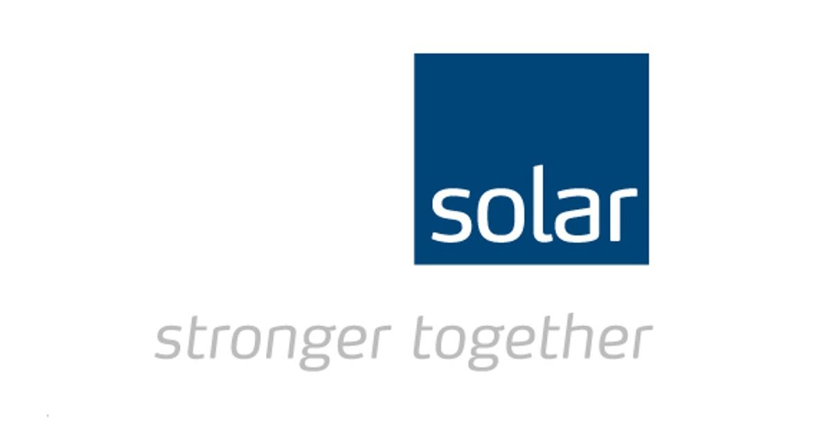 Annonsen viser logoen til Solar