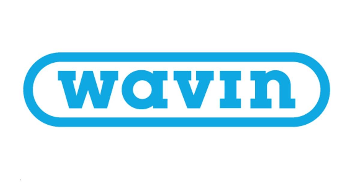 Annonsen viser bilde av logoen til Wavin