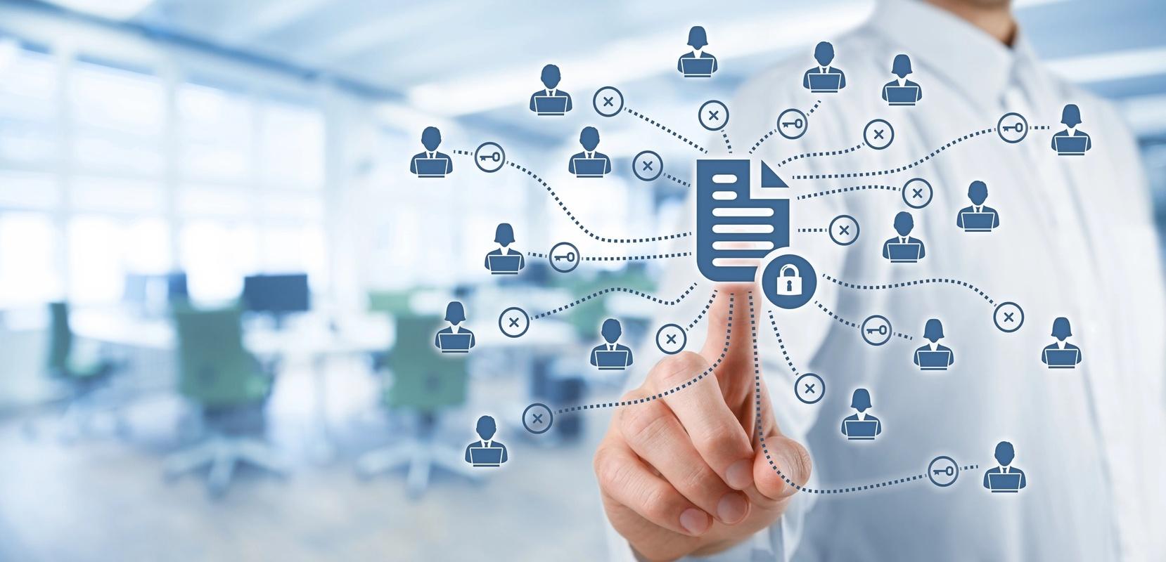Foto som illustrerer datasikkerhet i et personnettverk
