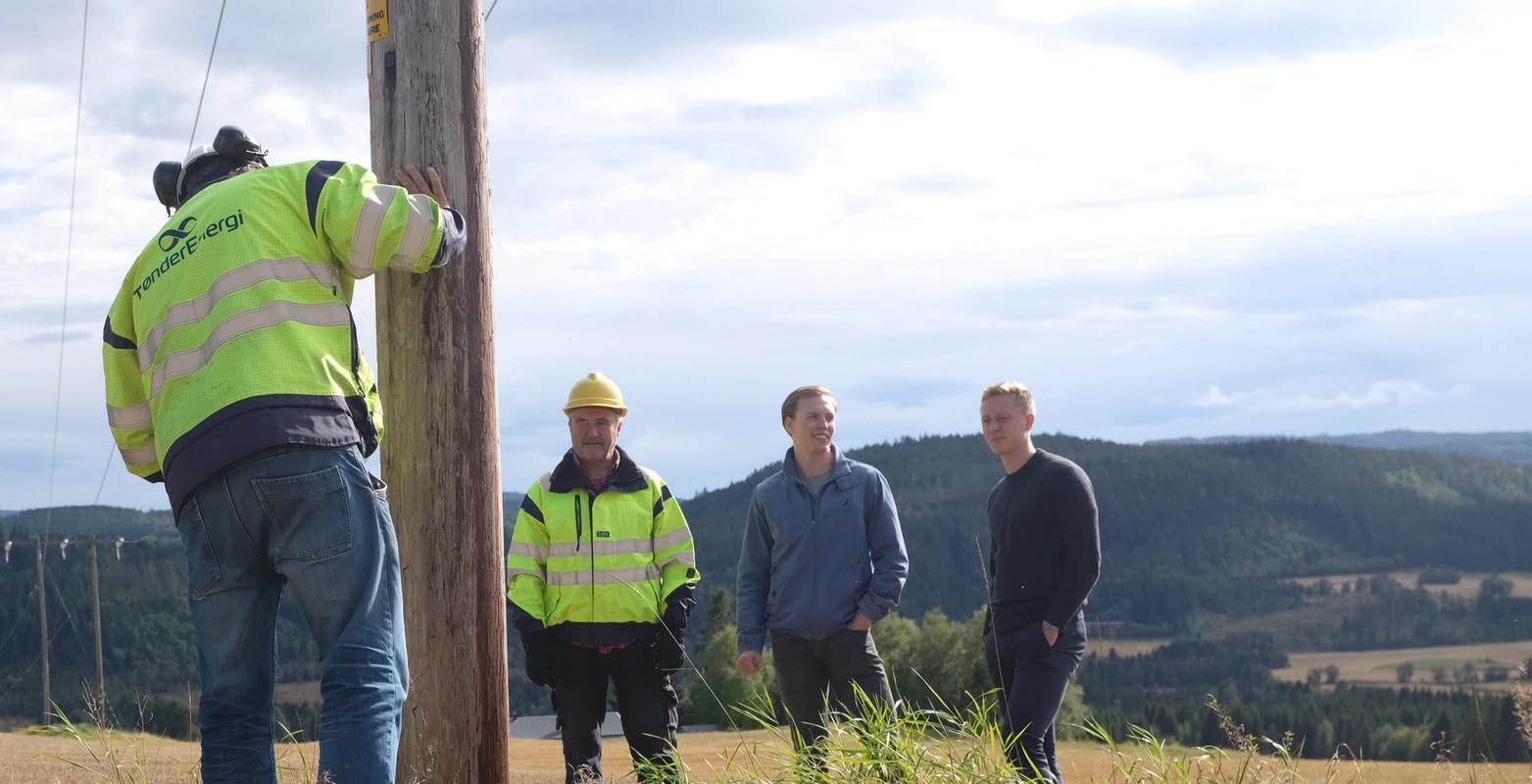 Bildet viser inspeksjonsrunde med TrønderEnergi Nett AS (TEN)
