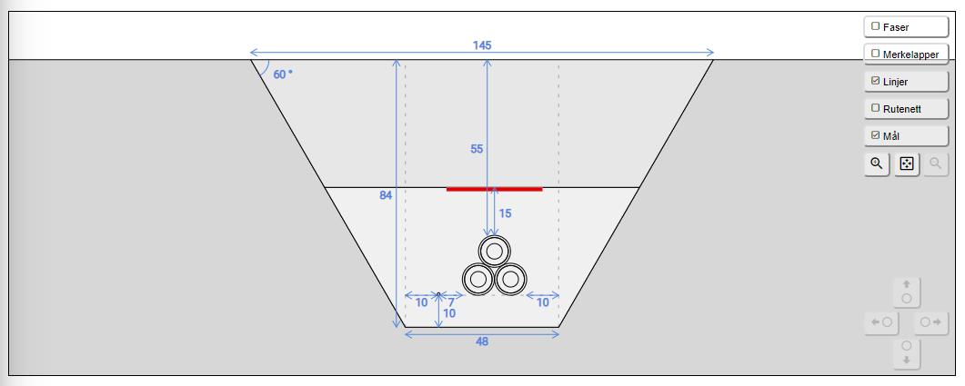 Bildet viser figur med grøftesnitt