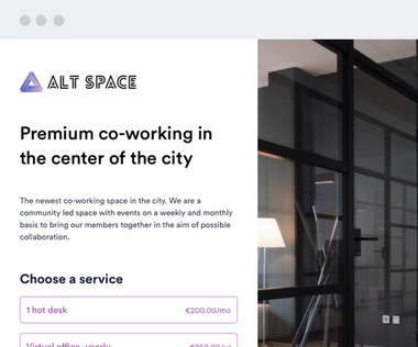 Payhere for Co-working space