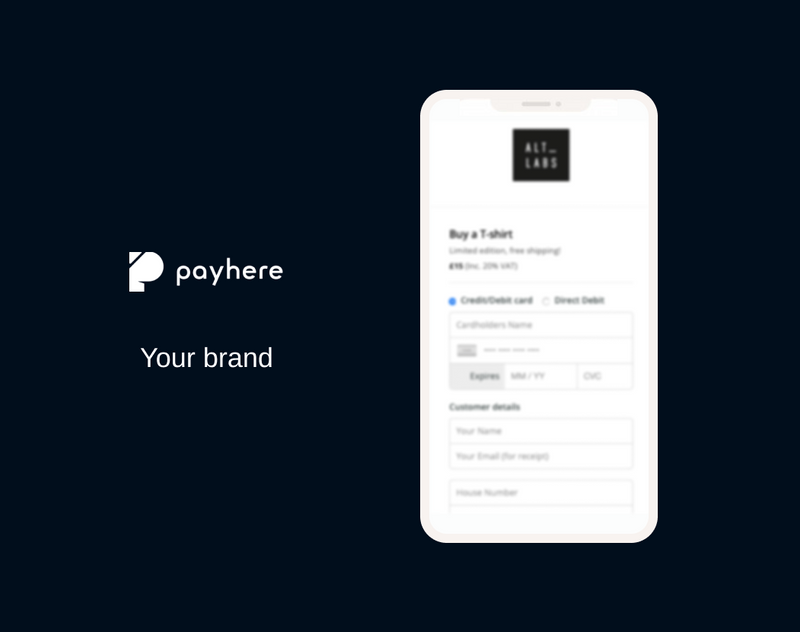 Personalizing payhere to your brand