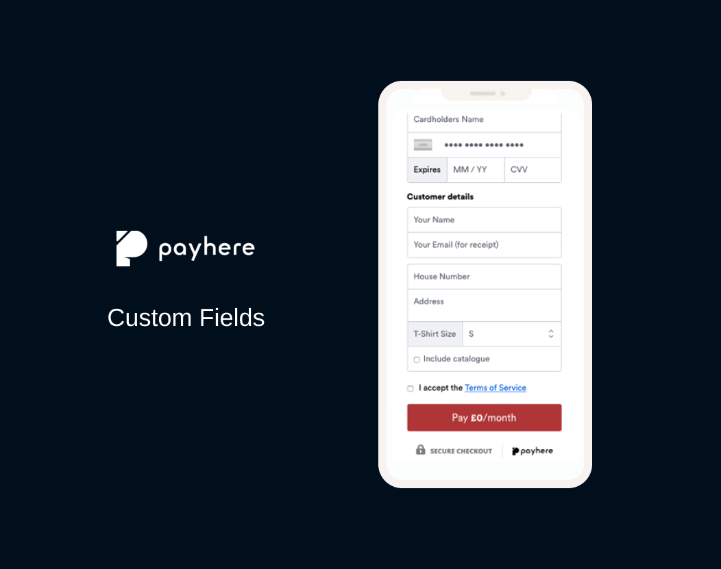 Using custom fields in your payment form