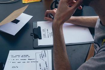 a businessman managing debt stress