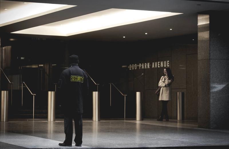 security guard standing at the venue door