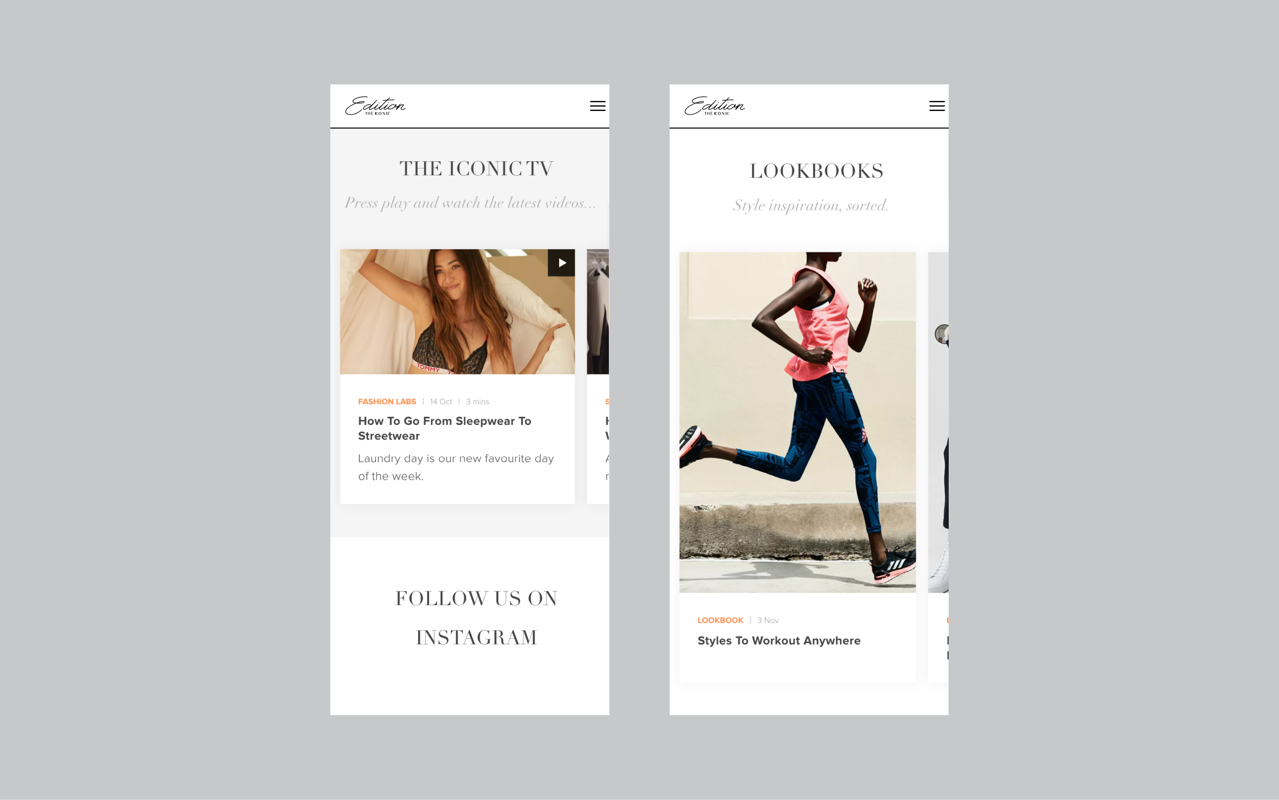 Edition by THE ICONIC new THE ICONIC TV and Lookbooks, two new media streams made possible with a headless CMS approacjh