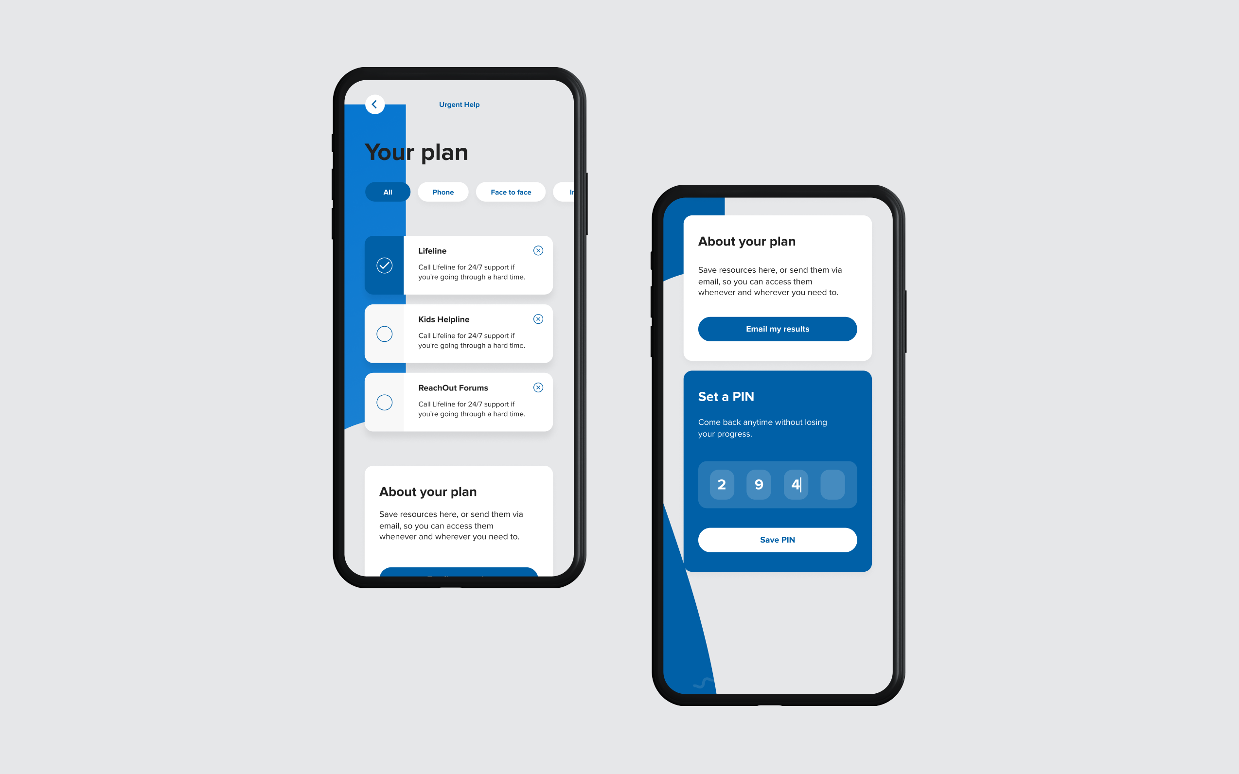 Mobile Next Step Your Plan and Set a PIN screen