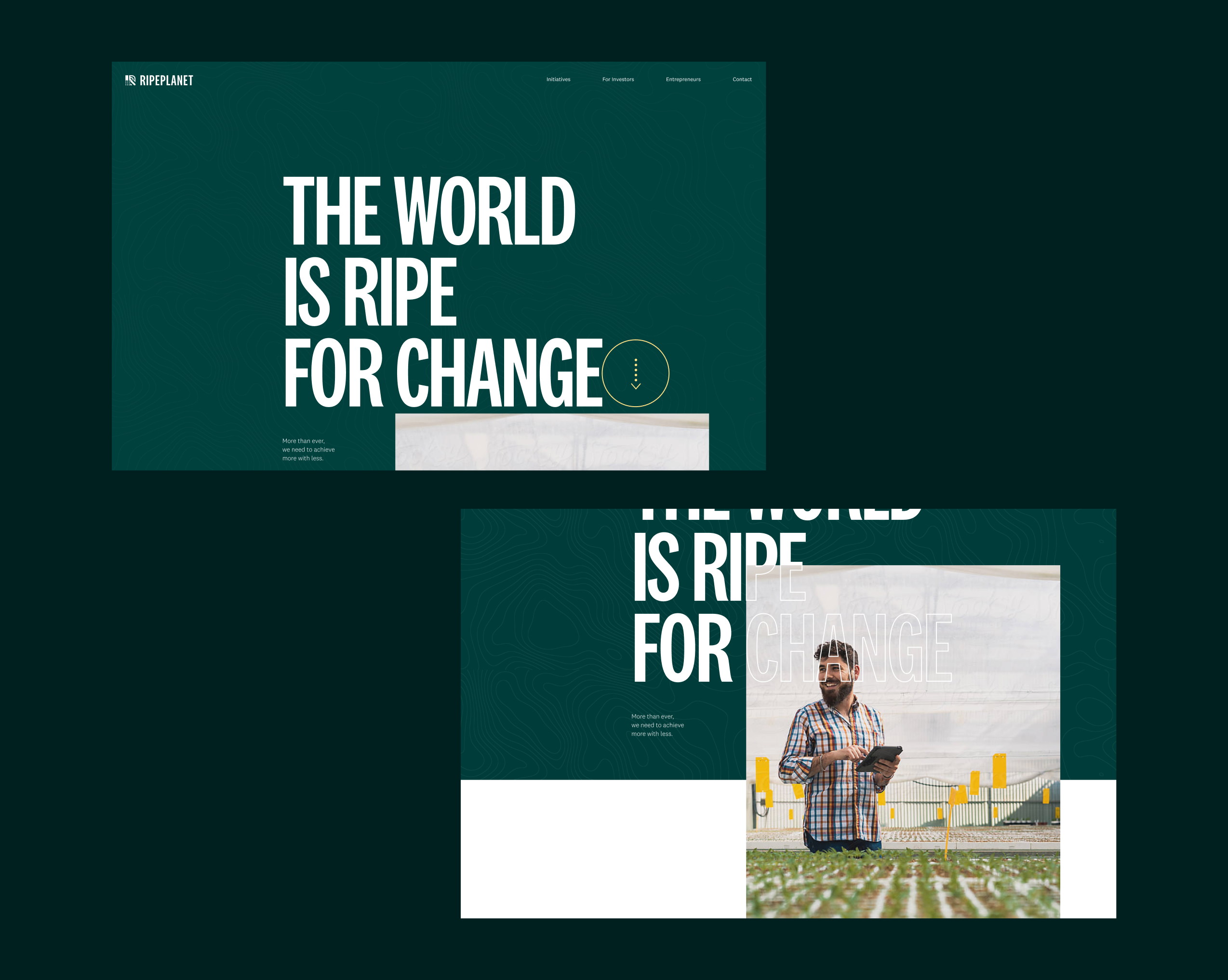Ripe Planet Homepage hero from new website