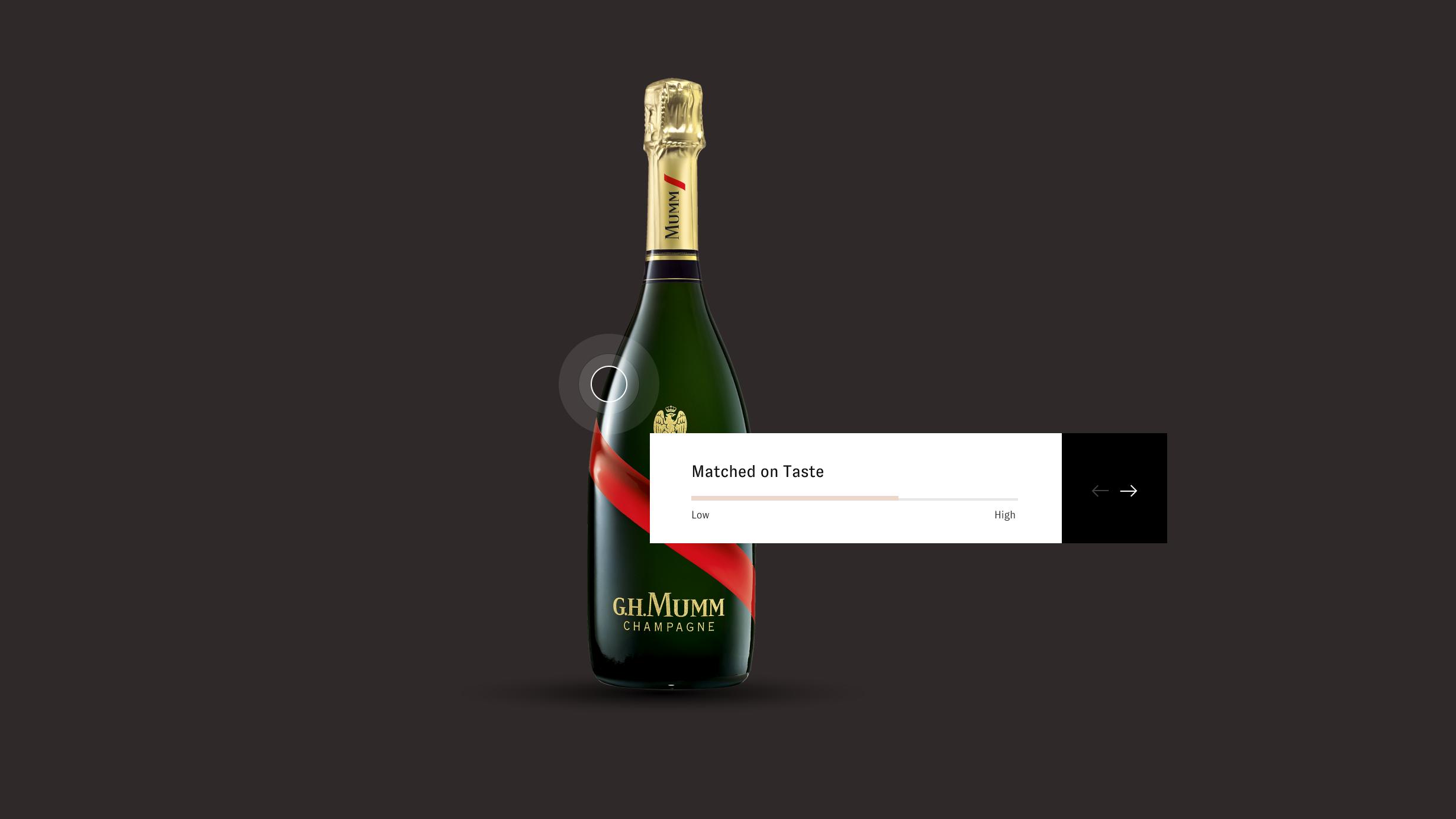 Henry & Paul website screenshot, showing a 'matched to taste' slider