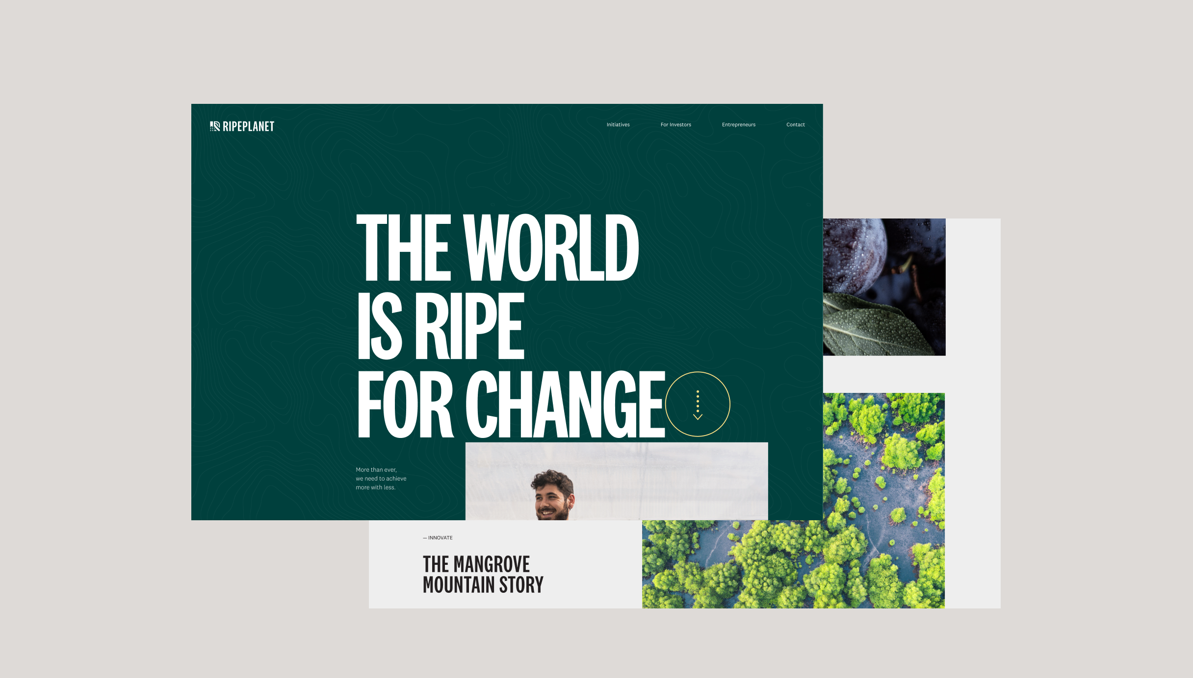 Ripe Planet Desktop Homepage screens