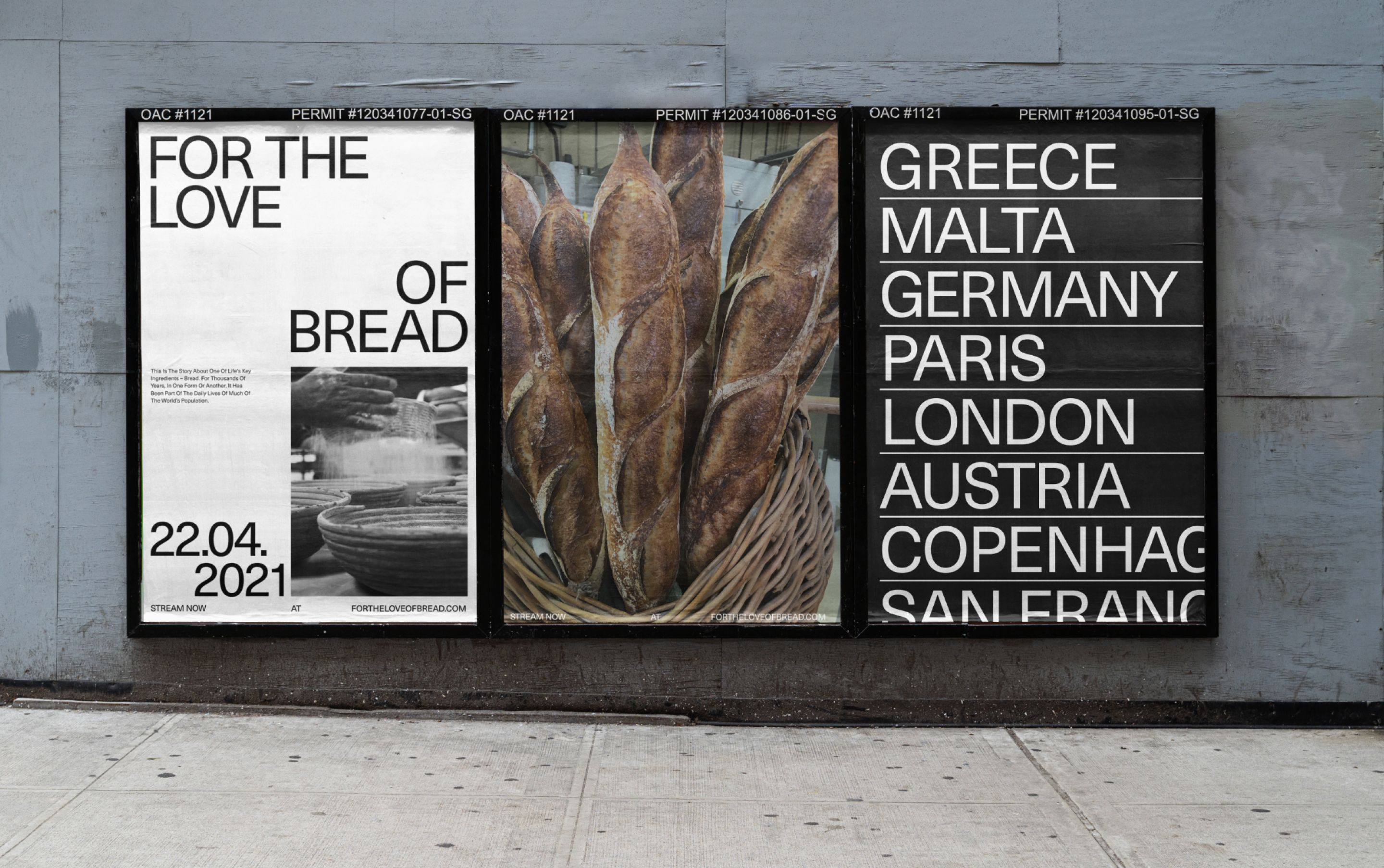 3 For The Love Of Bread posters in a row