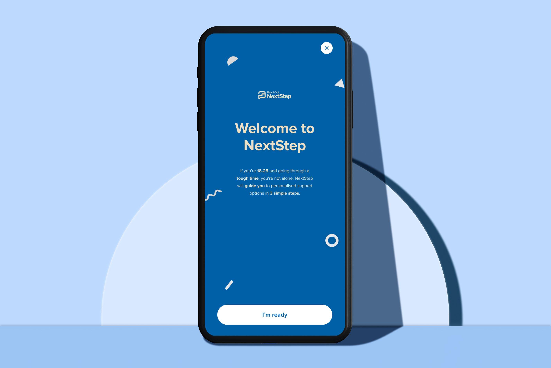 Phone with NextStep app