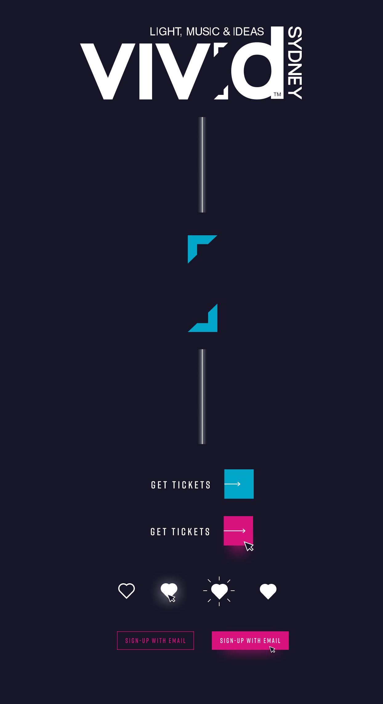 Vivid Sydney website key design interaction states