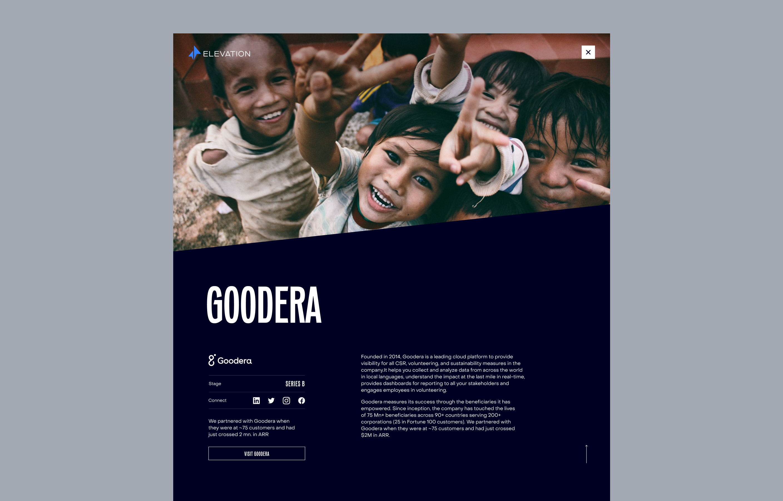 New Elevation Capital desktop design, showcasing a partners page