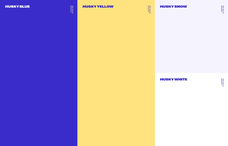New Blue Husky colour palette suite