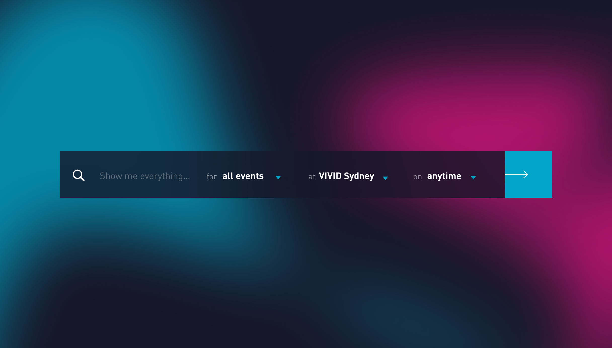 Vivid website search highlighted over a brand colour blur effect