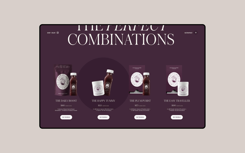 Desktop screenshot of the Queen Garnet website, showcasing the bundles available