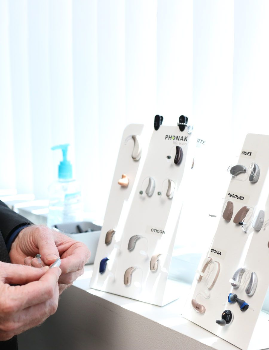 selection of hearing aids