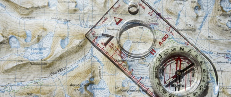 A map and compass