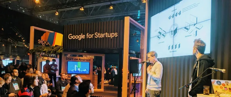 Knut and Bjørge presenting at Google for Startups at Slush'18