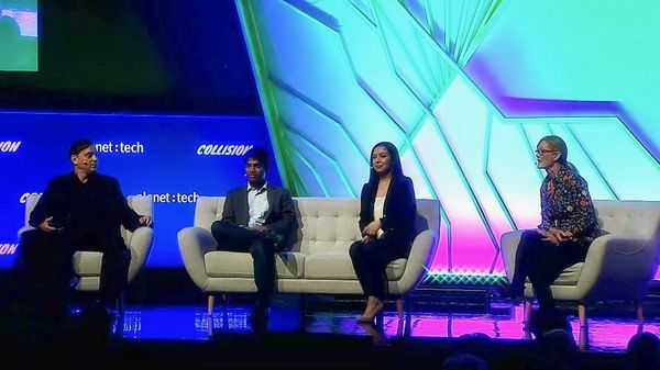 Aclima CEO and Co-Founder, Davida Herzl on stage at Collision Conference 2019. Source: Aclima