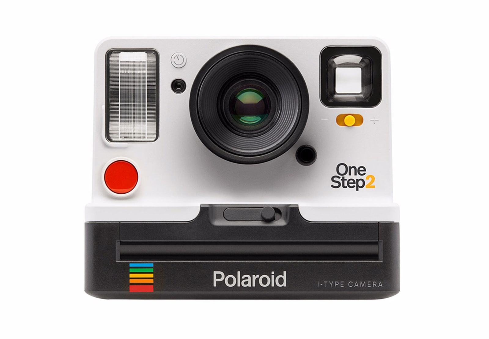 The reference picture, the same white polaroid camera, on a white background