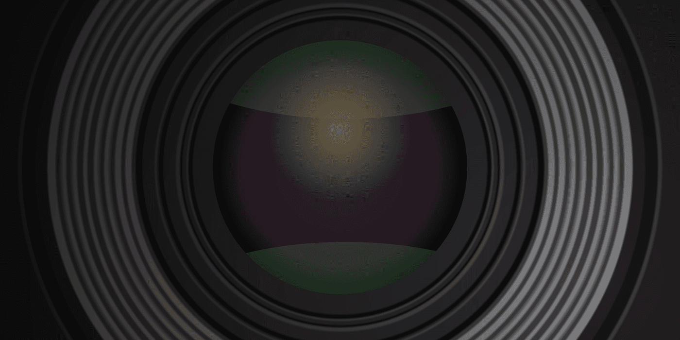 Close up of the reflection inside the camera lens in css