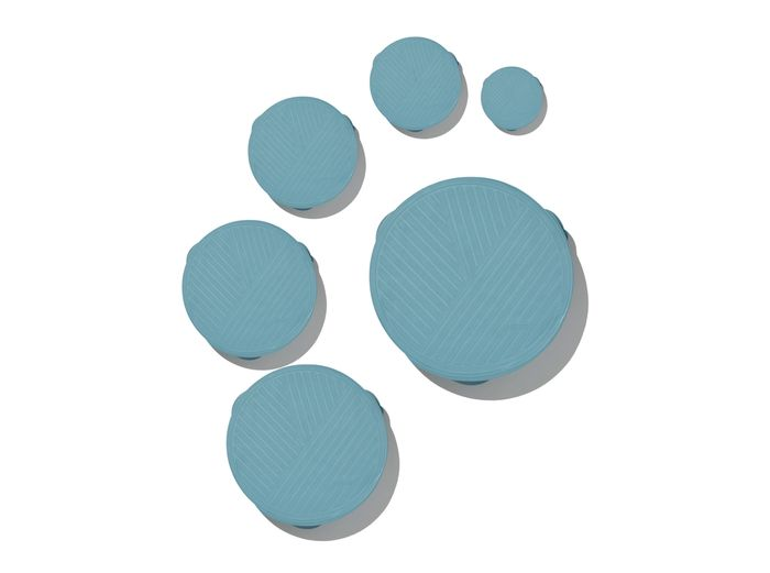 Image for Stretch Covers - Slate / 6-Piece Round