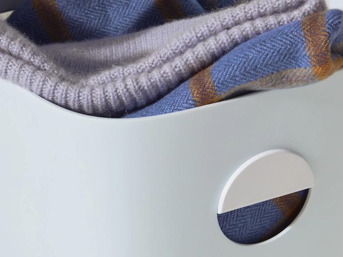 Hover Image for Medium Storage Bins - Set of 2 - No Lids / Light Blue