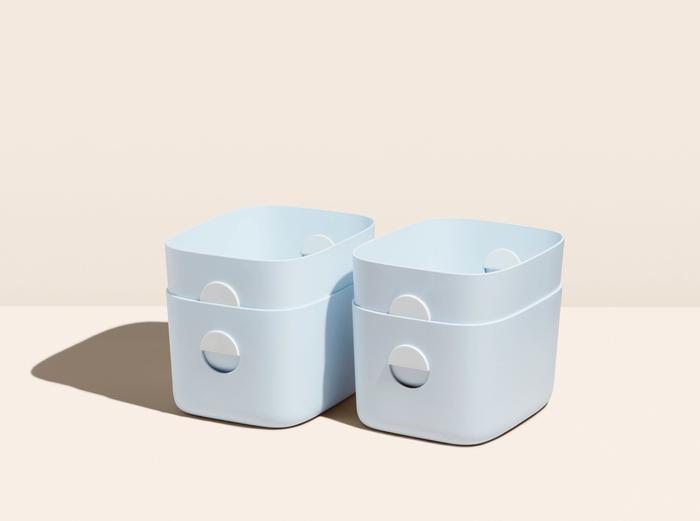 Image for Medium Bin Bundle - Set of 4 - Light Blue / No Lids