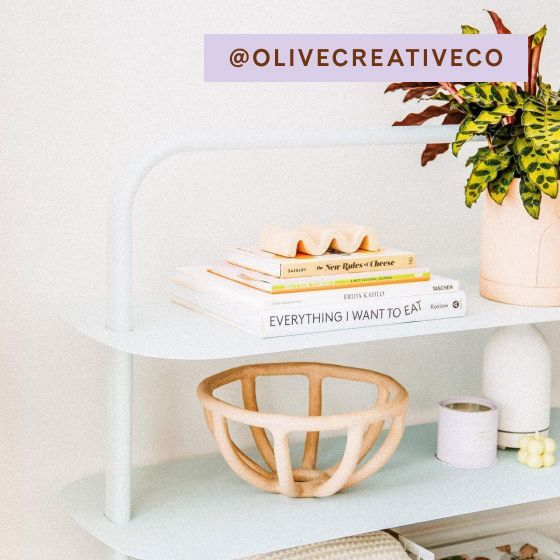 Image for [No Product Link] UGC - @olivecreativeco - Entryway Rack - Light Blue