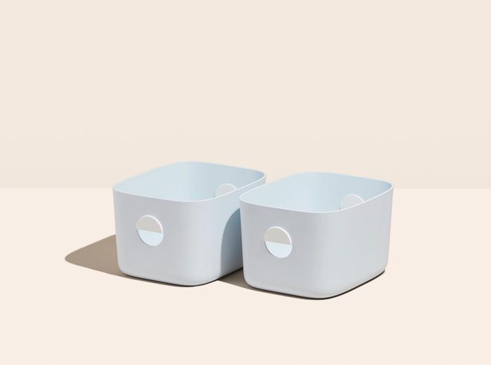 Image for Medium Storage Bins - Set of 2 - No Lids / Light Blue
