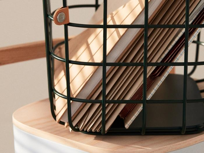 Hover Image for Medium Wire Baskets - Set of 2 - Dark Green