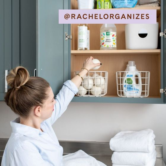 Image for UGC - @rachelorganizes - Medium Wire Baskets - Cream