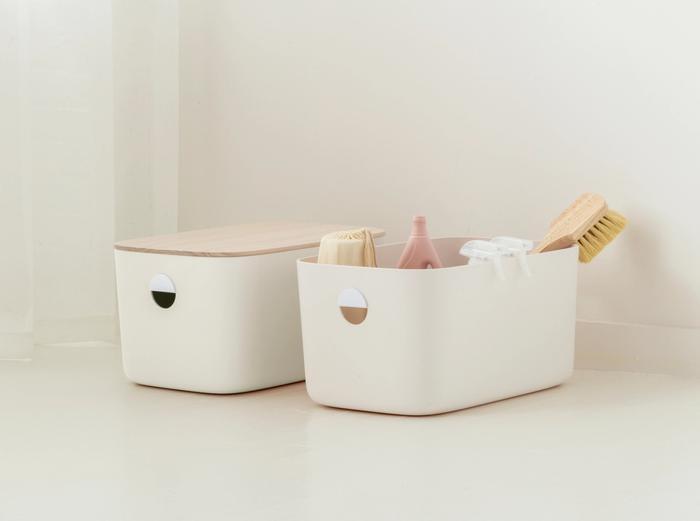 Image for Large Storage Bins - Set of 2 - No Lids / Cream