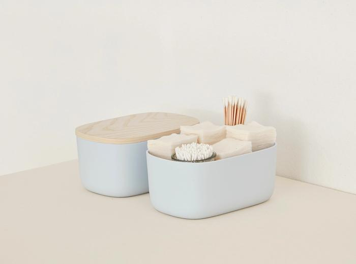 Image for Small Storage Bins - Set of 2 - No Lids / Light Blue