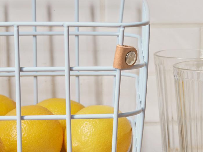 Hover Image for Medium Wire Baskets - Set of 2 - Light Blue